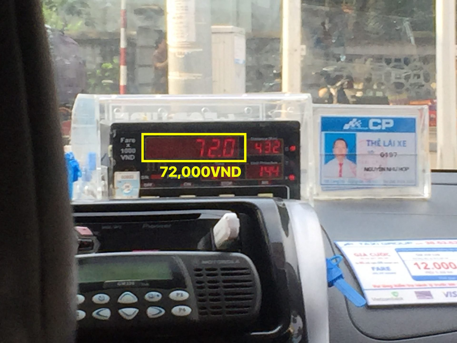 How to read taxi meter