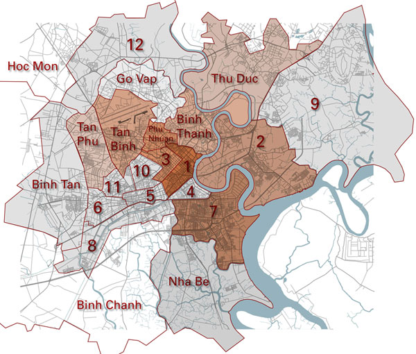 Saigon District Map